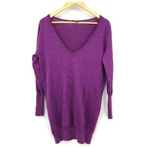 Eileen Fisher Womens Sweater Purple 100% Wool Med